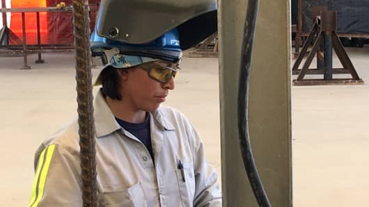 Theresa Horner, CB&I Structural Welder