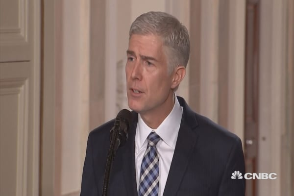 President Trump Nominates Neil Gorsuch To The Supreme Court