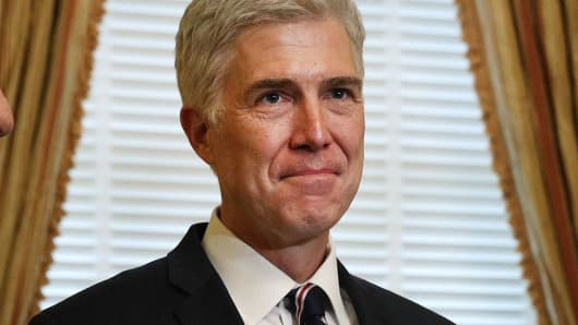 Neil Gorsuch, Supreme Court nominee on February 1, 2017.