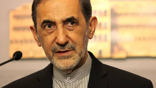 Ali Akbar Velayati, advisor to the Iran's Islamic republic's supreme leader Ayatollah Ali Khamenei