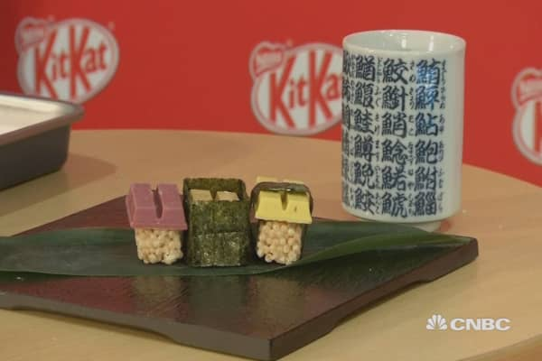 Chocolate sushi hits Tokyo for Valentine's Day
