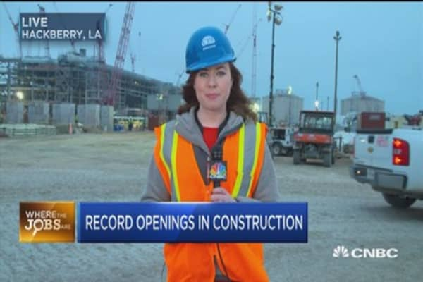 This state offers record job openings in construction....