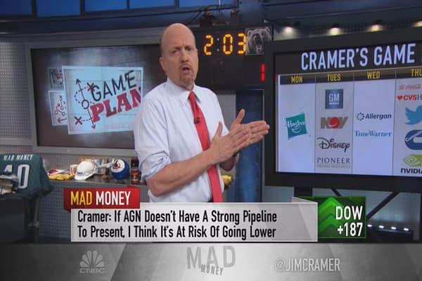 Cramer's game plan: Trump's CEO meeting shouldn't leave investors worried for last week of earnings