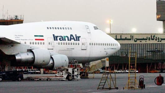 In this June 2003 file photo, a Boeing 747 Iran Air plane is seen at Mehrabad International Airport in Tehran.