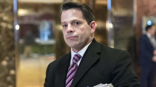 SkyBridge Capital founder Anthony Scaramucci, aide to President Donald Trump