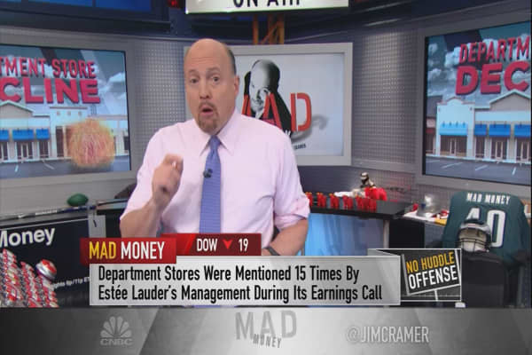 Cramer warns the collapse of department stores cannot be dismissed