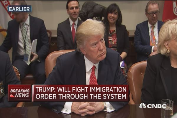 Trump vow to fight immigration court proceedings 'through the system'
