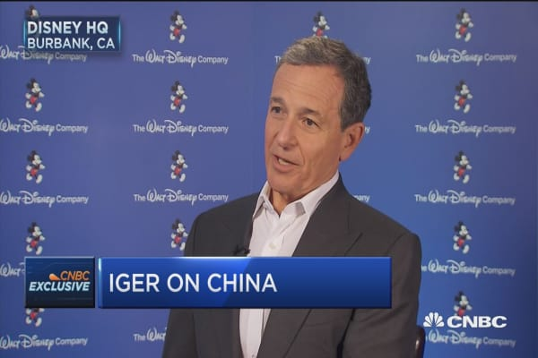 Iger: Trade war with China would be damaging to us
