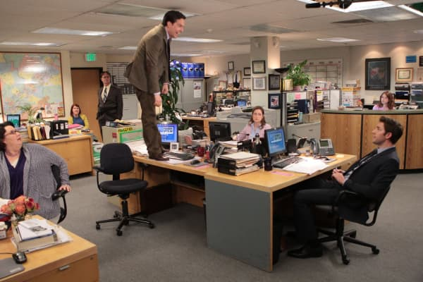 "Andy Bernard, fictional character on NBC's ""The Office,"" is an example of an employee who doesn't know how to communicate professionally."