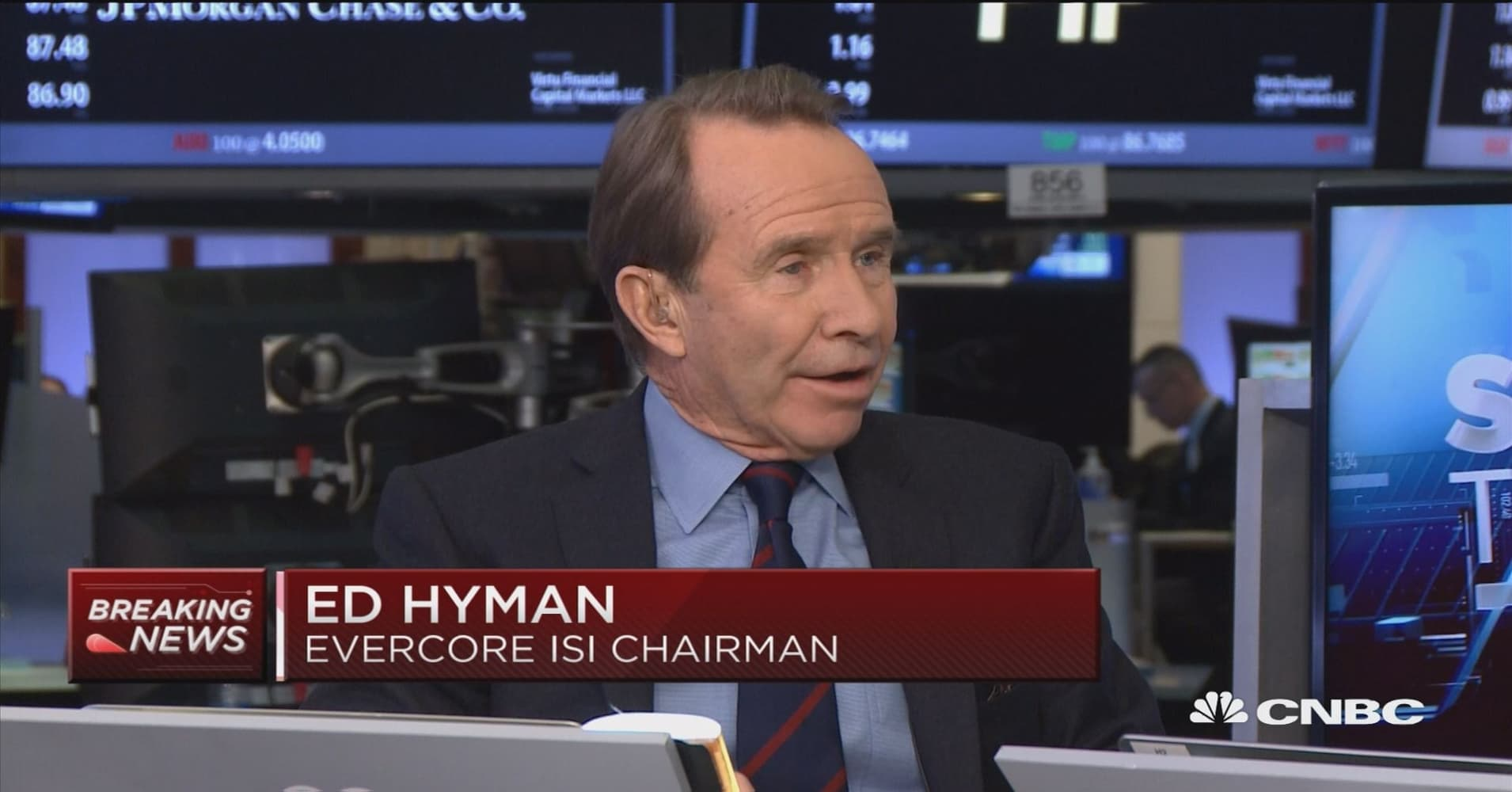Ed Hyman, Wall Street's top-ranked economist for decades, is bullish on the market due to Trump