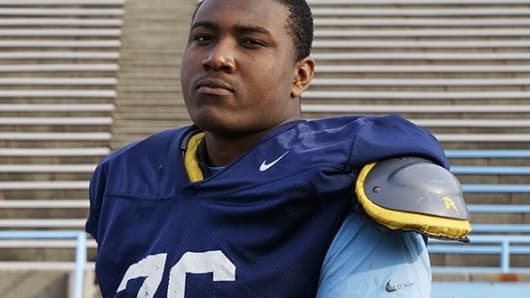 Kendall Pace, Columbia University Left Tackle.