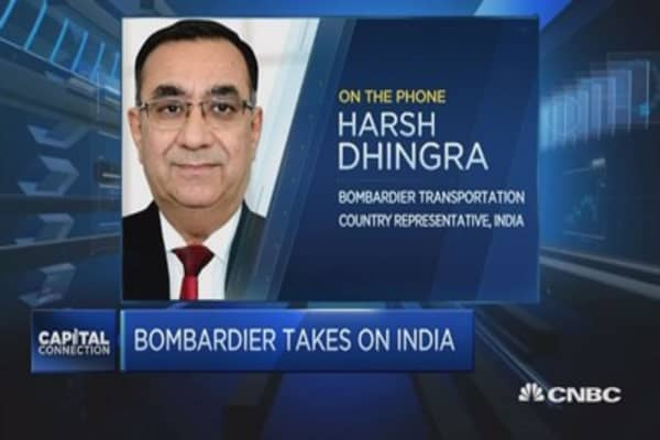 Bombardier takes part in India's infrastructure build