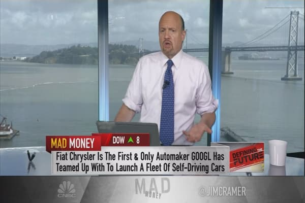 Cramer says he was wrong about what autonomous cars mean to Alphabet's future