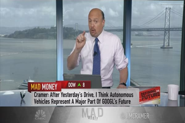 Cramer says he was wrong about autonomous cars & Alphabet's future