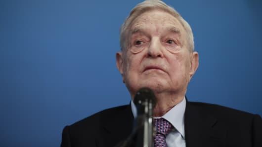 George Soros, billionaire and founder of Soros Fund Management LLC,