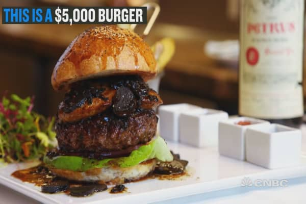 Are you hungry enough to spend $5,000 on a burger?