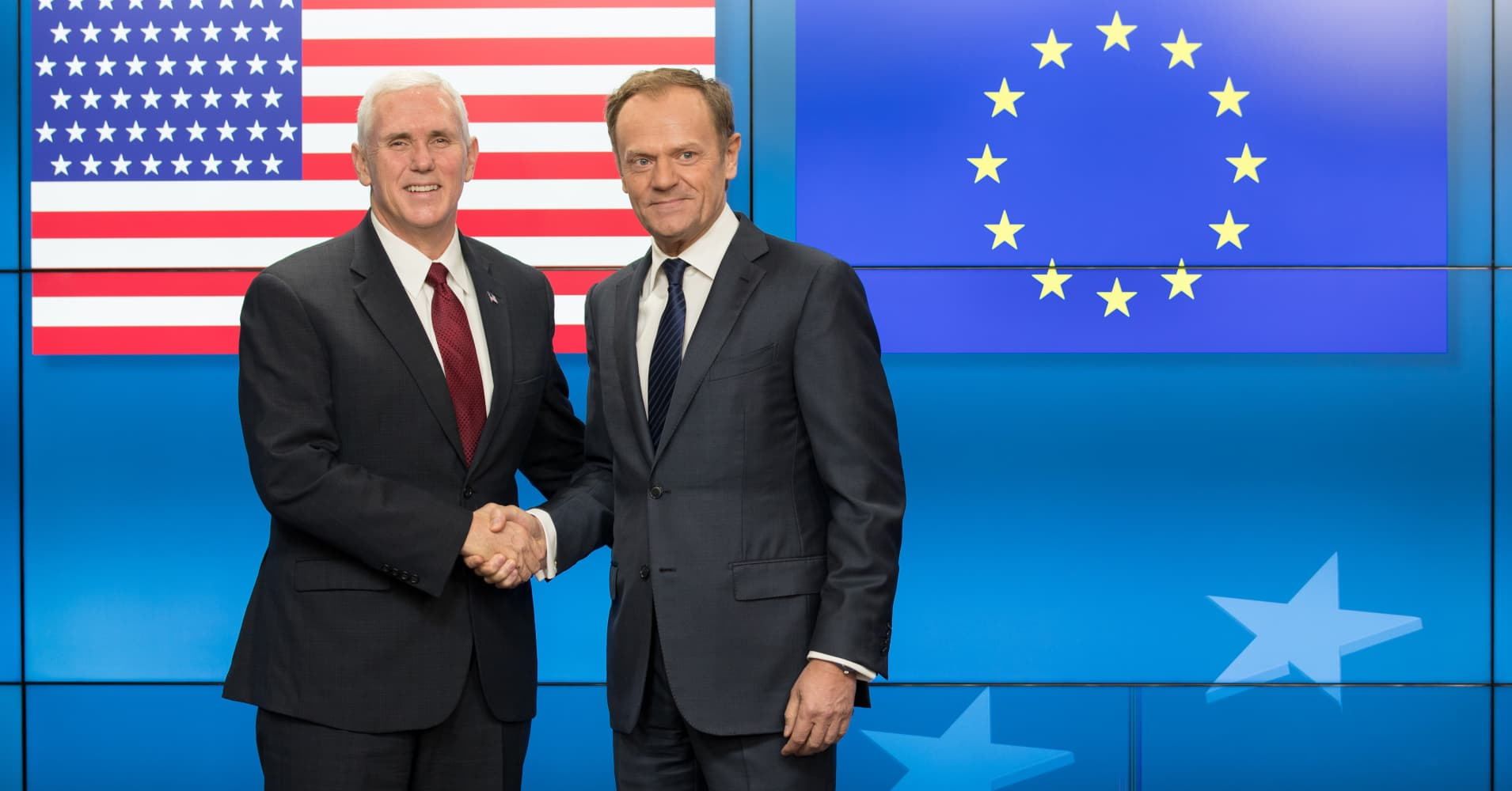 Trump support for EU is strong, says US vice president