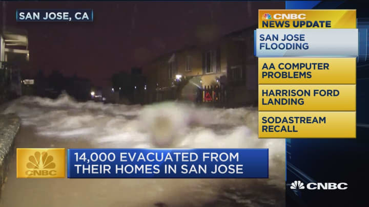 CNBC update: San Jose flooding