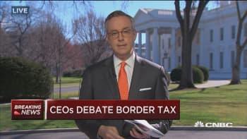 CEOs debate border tax, education