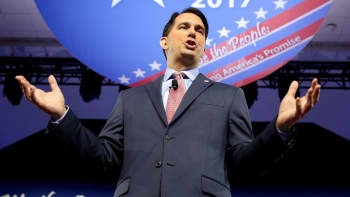 Wisconsin Governor Scott Walker speaks during the Conservative Political Action Conference (CPAC) in National Harbor, Maryland, February 23, 2017.