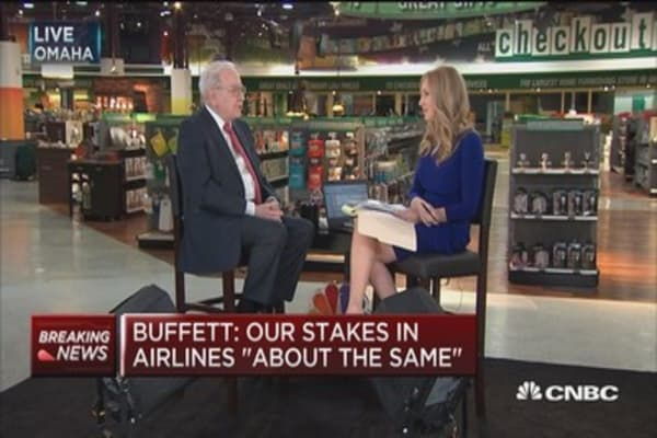 Warren Buffett: I like airlines because they just 'got a bad century out of the way'