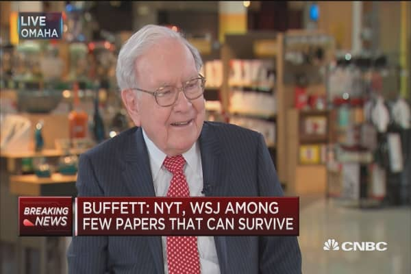 Buffett: These two newspapers will likely survive...