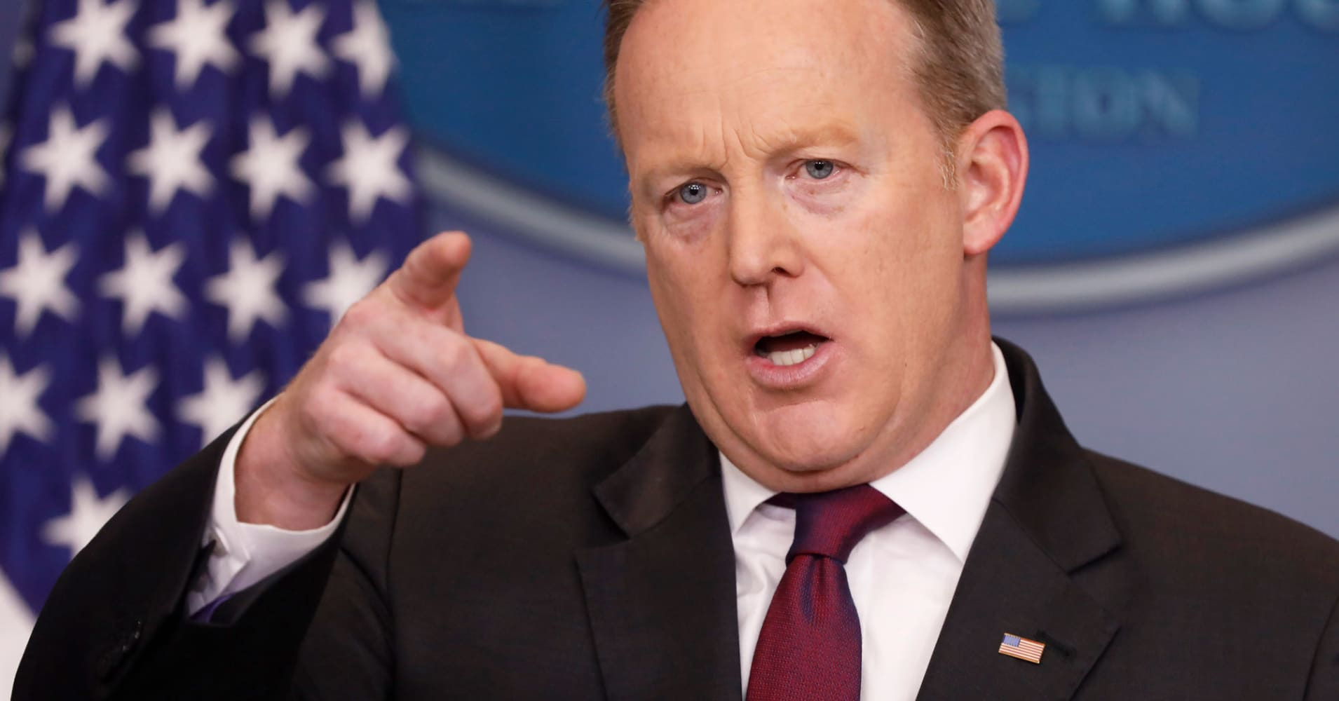 Watch: White House's Sean Spicer holds daily press briefing as health-care vote draws near