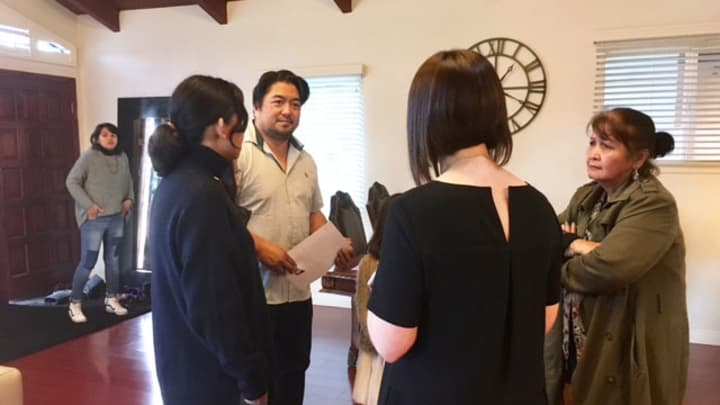 Open house in the hot Los Angeles real estate market