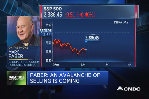 Faber: An avalanche of selling is coming