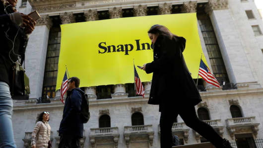 Snap shares surge as banks give flurry of 'buy' ratings