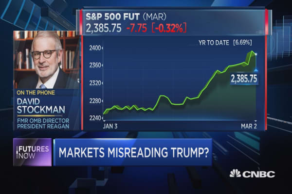 Stockman: Markets are 'misreading Washington'
