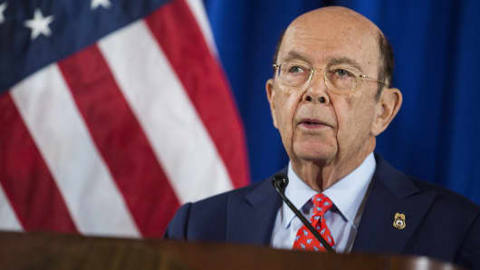 Wilbur Ross, U.S. Secretary of Commerce, speaks during a news conference at the U.S. Department of Commerce in Washington, D.C., U.S., on Tuesday, March 7, 2017.