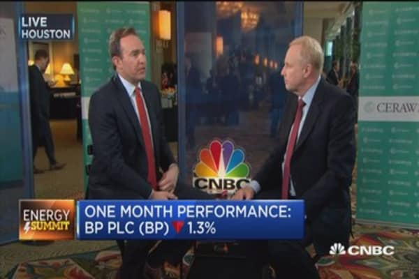 BP CEO: We're not planning on an uptick in oil prices