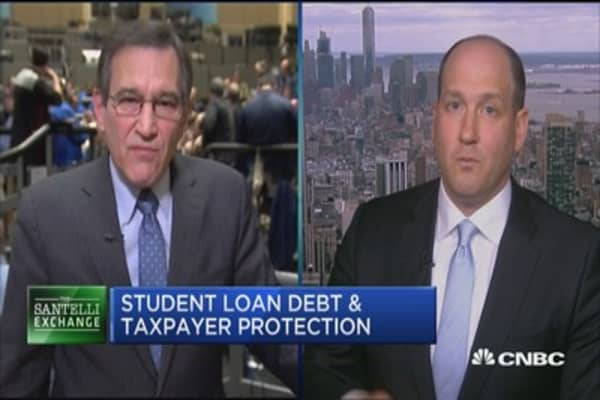 Santelli Exchange: Student loan debt outpaces credit card debt