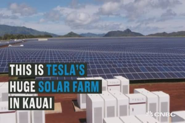 Tesla's just opened a huge solar farm in Hawaii