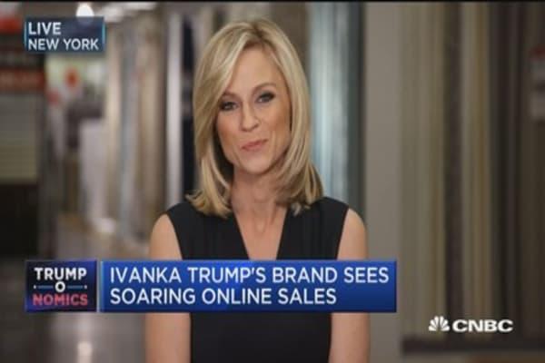Ivanka Trump's brand sees soaring online sales