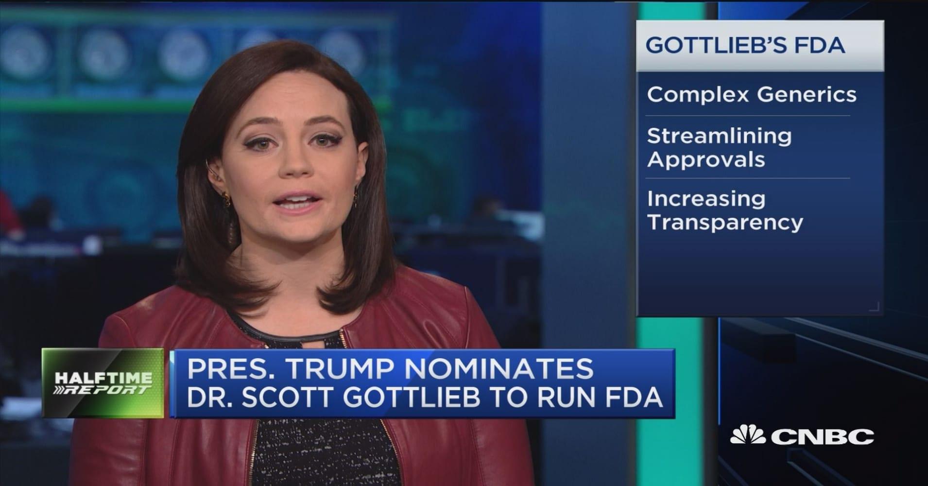 pres trump nominates dr scott gottlieb to run fda trump nominates dr scott gottlieb to run fda