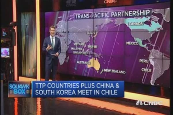China is attending a TPP meeting