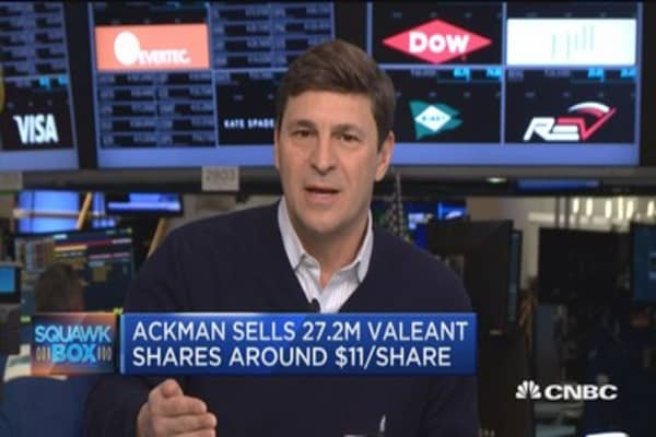 Ackman sells his stake in Valeant