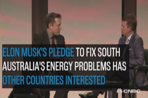Musk's energy pledge to South Australia is a hit on Twitter