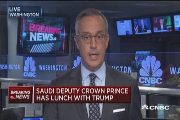 Saudi deputy crown prince has lunch with Trump