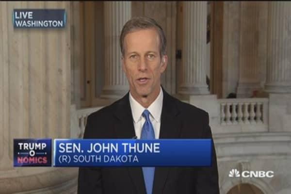 Sen. Thune: Testing health tax credits