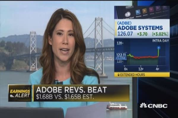 Adobe beats on top & bottom lines