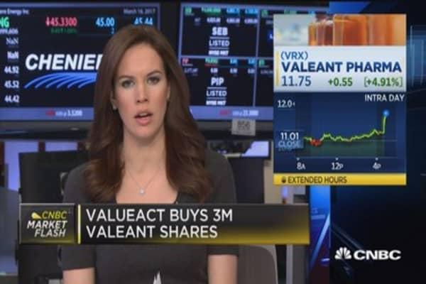 ValueAct buys 3M Valeant shares