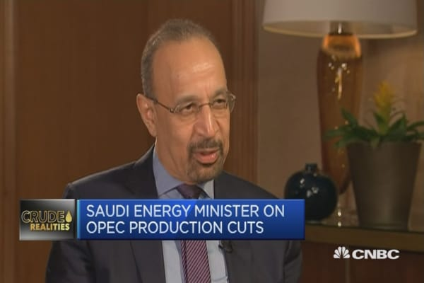 OPEC compliance is 'more than excellent': Saudi minister