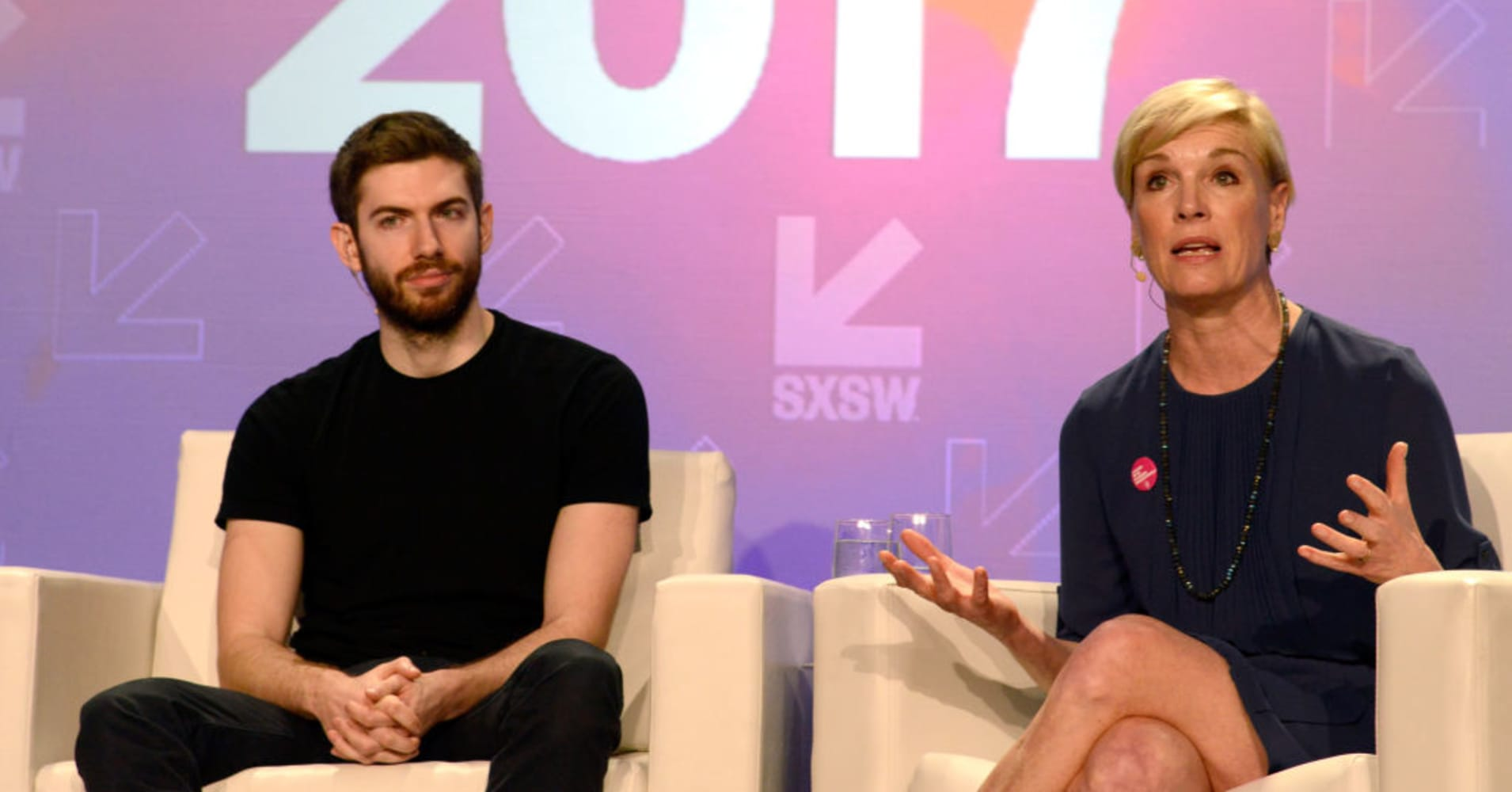 Tumblr CEO David Karp and President of Planned Parenthood Cecile Richards at SXSW.