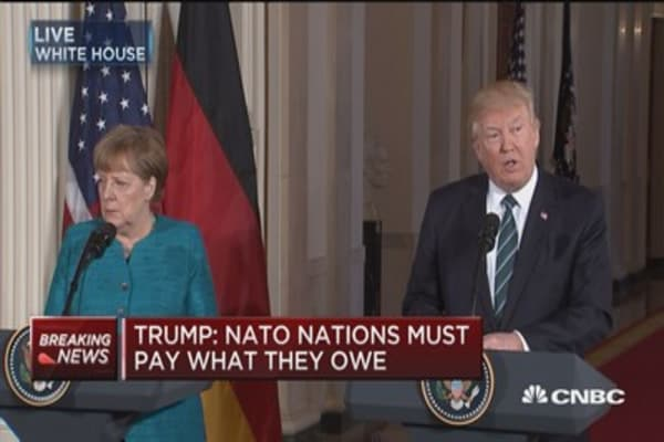 Trump: NATO nations must pay what they owe