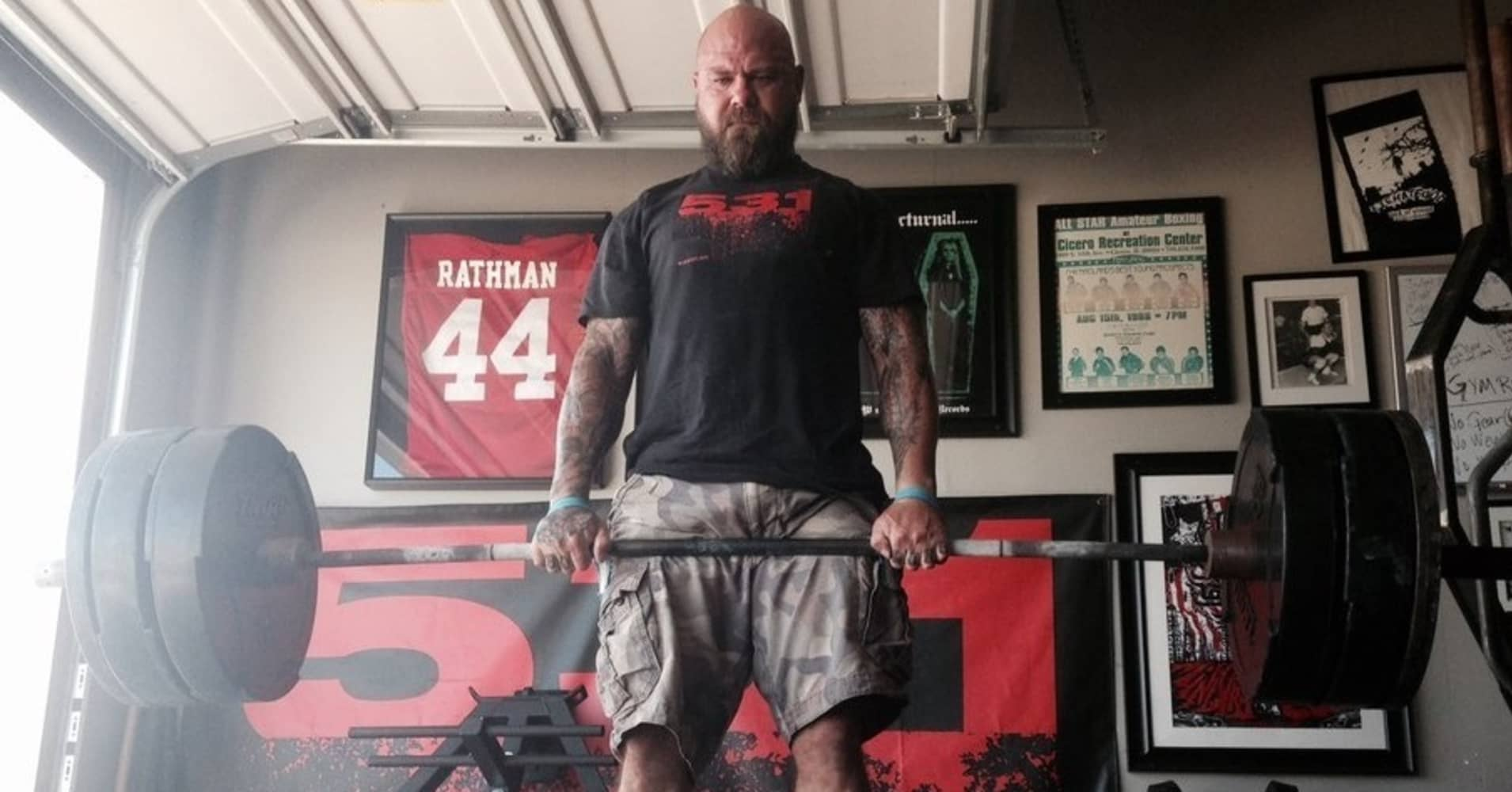 Strength coach and author Jim Wendler practicing his deadlifts