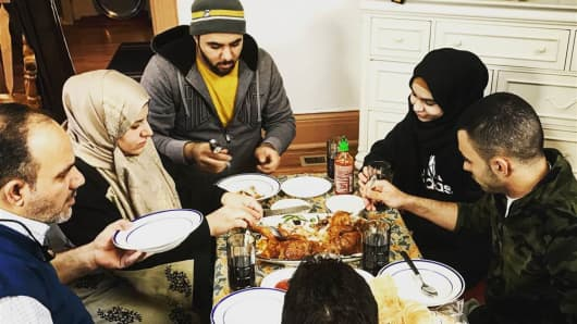 The Al Salibi family is new to Erie, Pennsylvania, having arrived six months ago.
