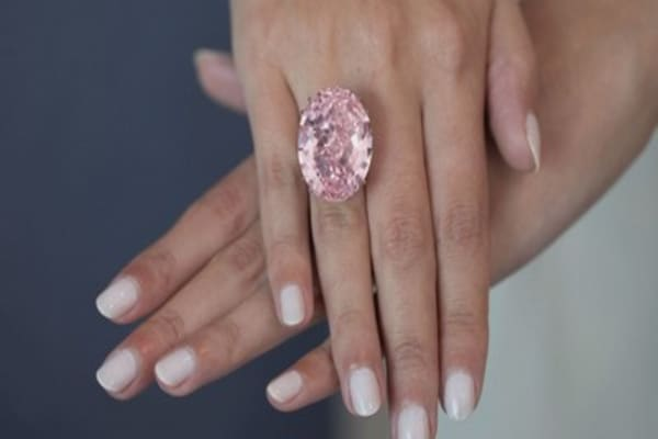 This pink diamond is expected to become the most expensive ever auctioned